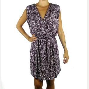 Banana Republic printed stretch faux wrap dress